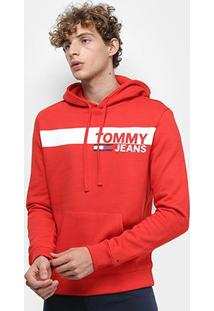 Moletom Tommy Jeans Essential Graphic Hoodie Masculino - Masculino