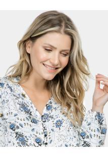Camisa Manga Longa Estampada Tecido Fleur Ancienne - Lez A Lez
