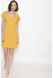 Vestido Com Recortes- Amarelo- Shirley Dantasshirley Dantas