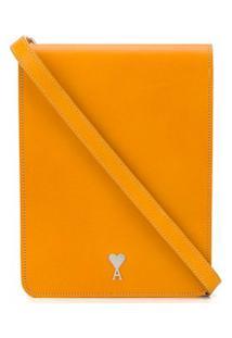 Ami Paris Bolsa Sanfonada Média - Amarelo