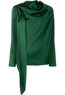 Gianluca Capannolo Blusa Assimétrica Drapeada - Verde