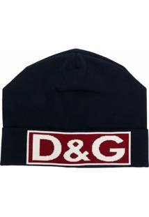 Dolce & Gabbana Gorro Com Logo - Azul