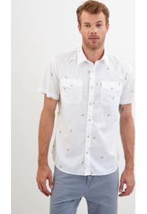 Camisa John John Mini Pineapple Estampado Masculina Camisa Mini Pineapple-Estampado-G