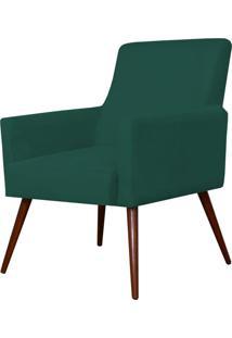 Poltrona Decorativa Para Sala De Estar E Recepção Maria Pés Palito Verde Musgo - Lyam Decor