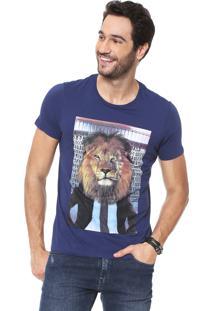 Camiseta Sergio K Anti Social Azul-Marinho