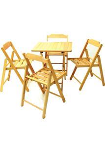 Jogo Mesa E 4 Cadeiras Tramontina 10630006 Beer Dobrável