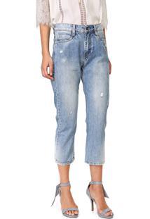 Calça Jeans Carmim Slim Cropped Town Tomboy Azul