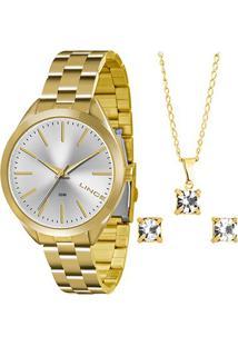 Relógio Lince Analógico Lrg4329Lk136S1Kx Feminino - Feminino-Dourado