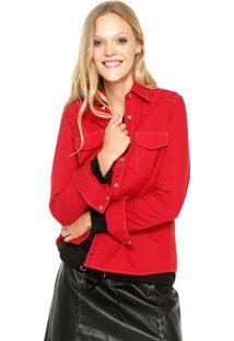Camisa Calvin Klein Jeans Bolsos Vermelho