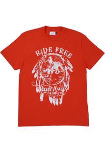 Camiseta Manga Curta Wrangler Vermelho