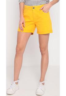 Bermuda Em Sarja Com Bolsos- Amarela- My Favorite Thmy Favorite Things