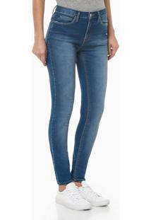 Calça Jeans Feminina Five Pockets Super Skinny Bolso Ômega Azul Claro Calvin Klein Jeans - 36