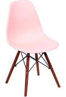 Cadeira Em Mdp/Mdf Base Escura 1102-Or Design - Salmao