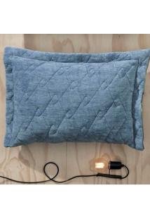 Porta Travesseiro Blend Fashion Concept Navy Blue 50Cm X 70Cm Azul
