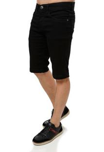 Bermuda Jeans Masculina Vels Preto