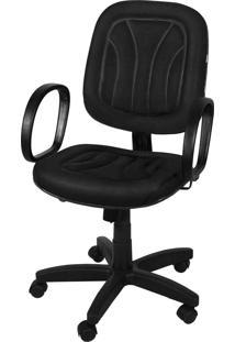 Cadeira Diretor Base Giratã³Ria Gã¡S C/ Br Preta - Preto - Dafiti