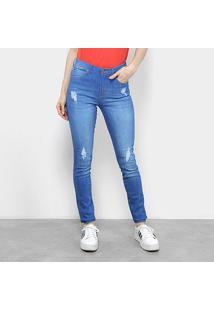 Calça Jeans Skinny Calvin Klein Cintura Média Feminina - Feminino