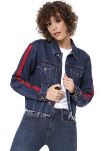 Jaqueta Jeans Oh Boy Faixa Azul