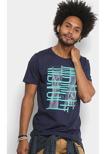 Camiseta Colcci Estampada Masculina - Masculino-Azul