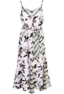 Diane Von Furstenberg Vestido Com Estampa Floral - Roxo