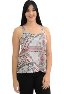 Camisa Energia Fashion Estampada Vinho