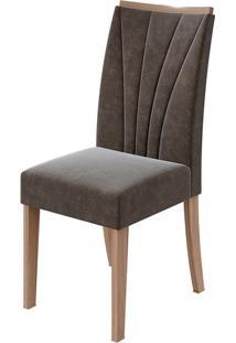 Cadeira Apogeu Velvet Chocolate Carvalho Naturale