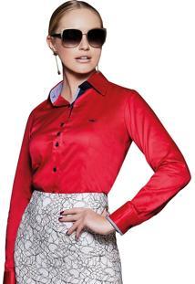 82386aa4b Ir para a loja; Camisa Feminina Social Vermelha Principessa Caren