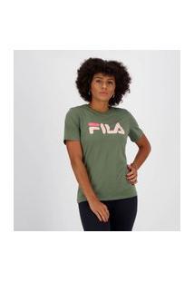 Camiseta Fila Basic Letter Feminina Verde