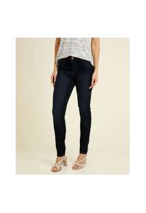 Calça Jeans Stretch Skinny Feminina Bolsos