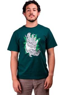 Camiseta De Algodão Polvo Purple Haze - Masculino-Verde