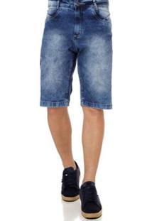 Bermuda 7 Ganghts Jeans Masculina - Masculino-Azul