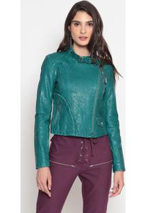 Jaqueta Com Bolsos - Verde Escuro- Kwikwi