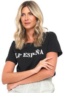 Camiseta Lança Perfume Lp España Preta