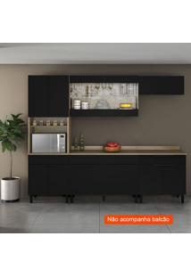 Cozinha Compacta Itamaxi 7 Pt 1 Gv Preta E Castanho