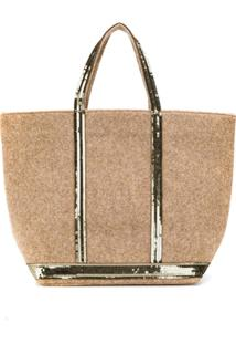 Vanessa Bruno Sequin Trim Tote - Marrom