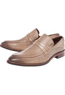 Sapato Social Ferracini Recorte Bege