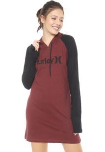 Vestido Hurley Curto One&Only Vinho/Preto