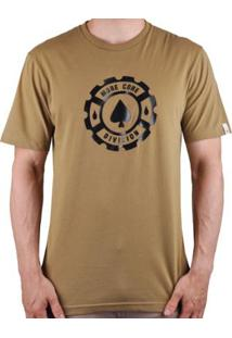 Camiseta Mcd Regular - Masculino-Caramelo