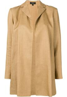 Theory Jaqueta Oversized - Neutro