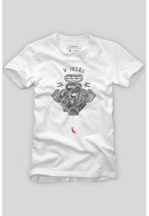 Camiseta Motorzao Reserva Masculina - Masculino-Branco