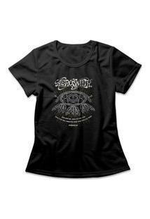 Camiseta Feminina Aerosmith Dream On Preto
