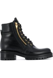 Balmain Ankle Boot Com Solado Chunky - Preto