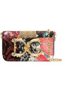 Dolce & Gabbana Bolsa Transversal Com Estampa Dg - Preto