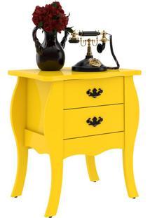Mesa Lateral Premier Amarelo Com Brilho Patrimar