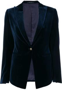 Tagliatore Blazer Com Abotoamento - Azul