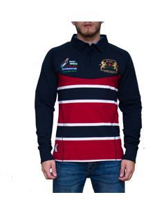 ... Blusa Kevingston Brown Rugby Vermelha Listrado 0a7e5ca6cd112