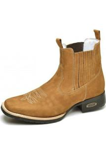 Bota Top Franca Shoes Country - Masculino-Caramelo