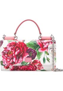 Dolce & Gabbana Clutch Floral De Couro - Branco