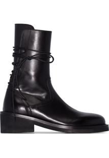 Ann Demeulemeester Lace-Up Ankle Boots - Preto