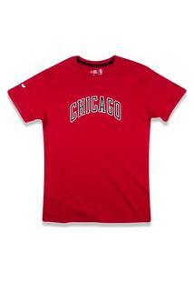 T-Shirt New Era Regular Chicago Bulls Vermelho